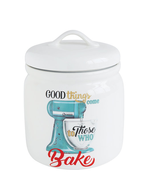 """Good Things Come To Those Who Bake"" Stoneware Canister"