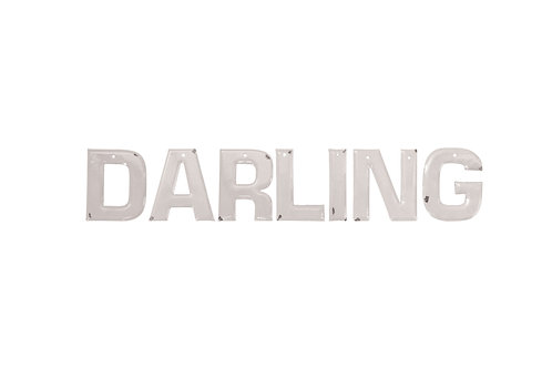 """Darling"" Enameled Letters (Set of 7 Styles)"