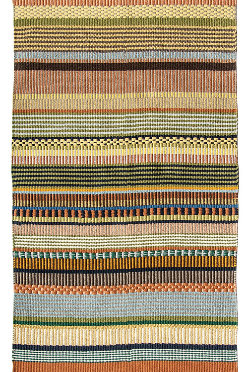 3' x 5' Multicolor Striped Cotton Woven Rug