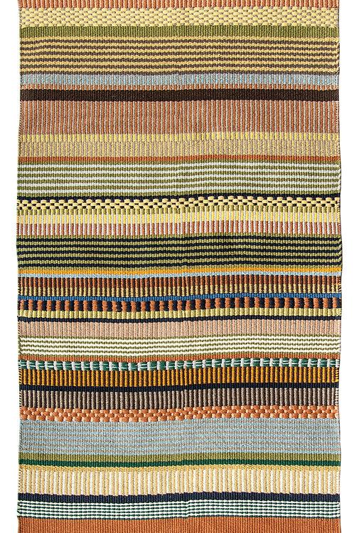 3' x 5' Multicolor Striped Cotton Woven Rug