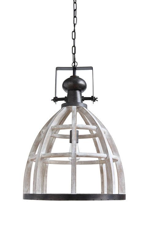 Wood & Metal Hanging Pendant Light
