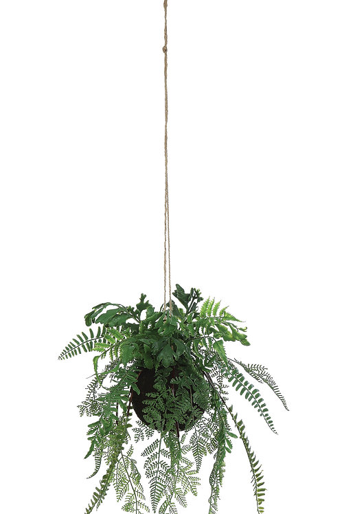 Faux Hanging Fern