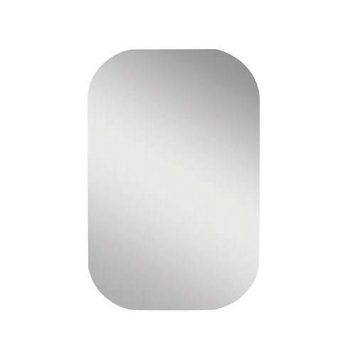 Small Unframed Mirror with rounded corners