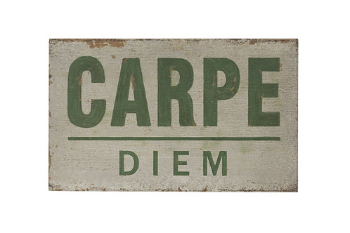 "25.5""W Distressed ""Carpe Diem"" Wood Wall Decor"