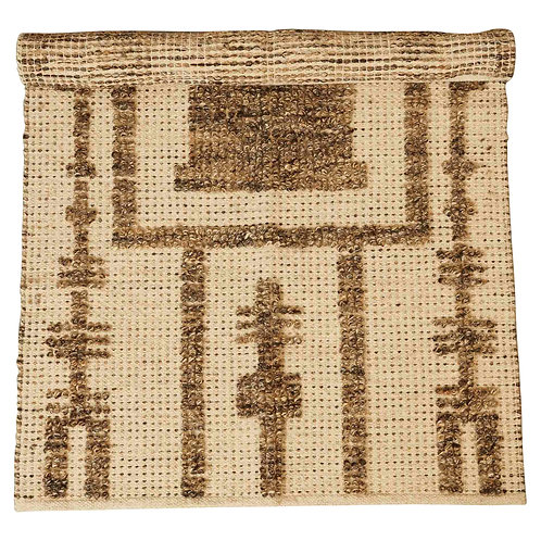 3' x 5' Patterned Wool & Cotton Woven Rug