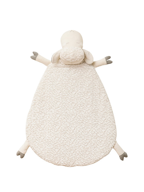 "26"" x 35"" Sheep-Shaped Tummy Time Floor Mat"