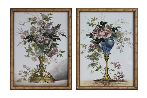 Wood Framed Bouquet Wall Decor (Set of 2 Designs)