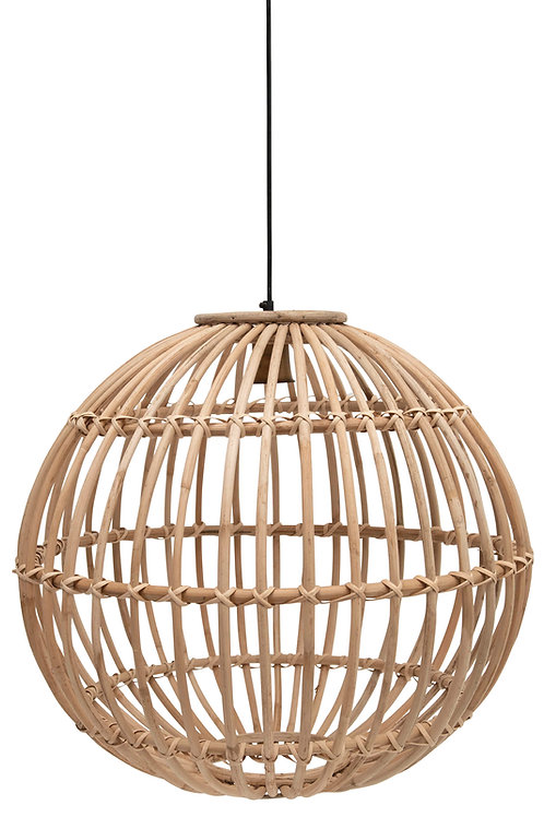 Large Round Handwoven Rattan Pendant Light with 6' Cord (Hardwire Only)