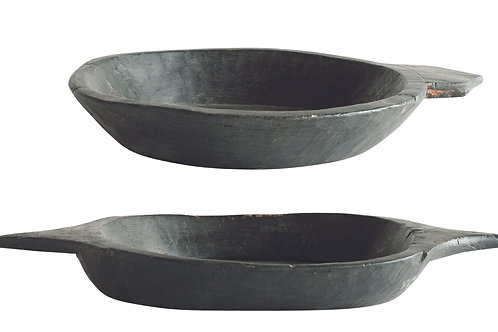 Found Decorative Black Wood Tray (Each one will vary)
