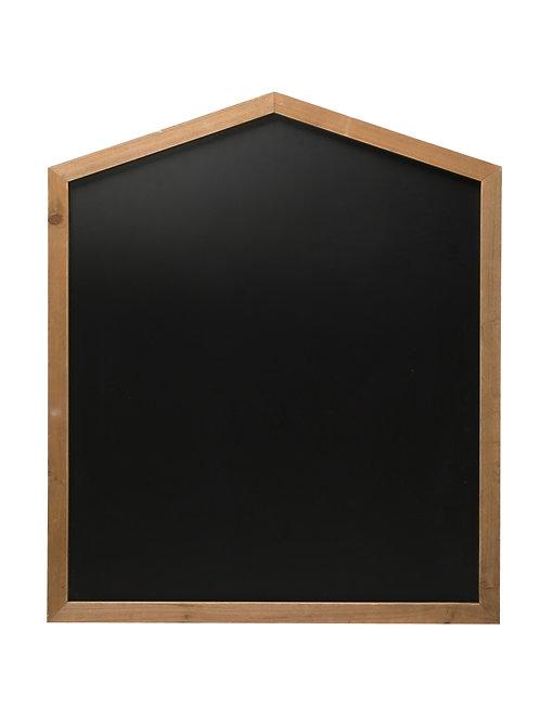 House Shaped Blackboard in Wall Mountable Wood Frame