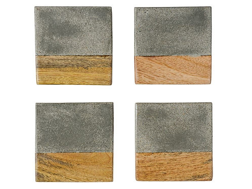 Cement & Wood Coasters