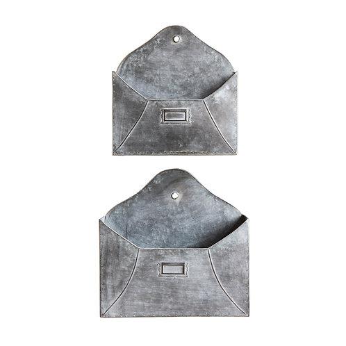 Set of 2 Metal Wall Pockets
