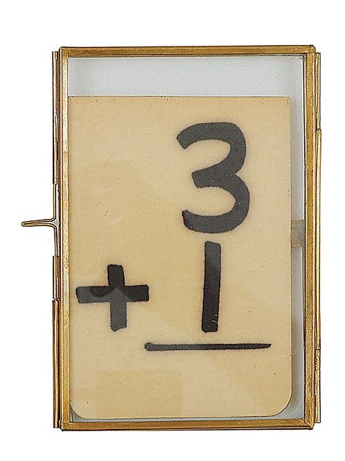 Brass & Glass Photo Frame