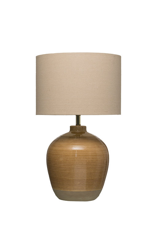 Terracotta Table Lamp (Each one will vary)