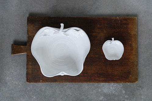 White Terracotta Apple Bowl