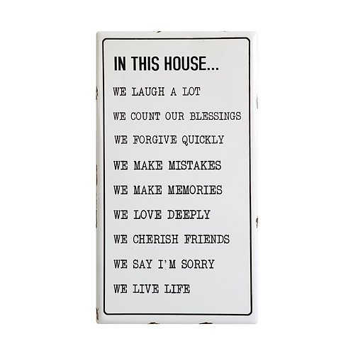 """In This House ..."" Enameled Wall Plaque"