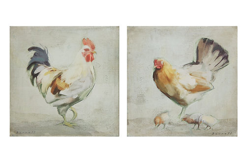 Chicken Canvas Wall Decor (Set of 2 Styles)