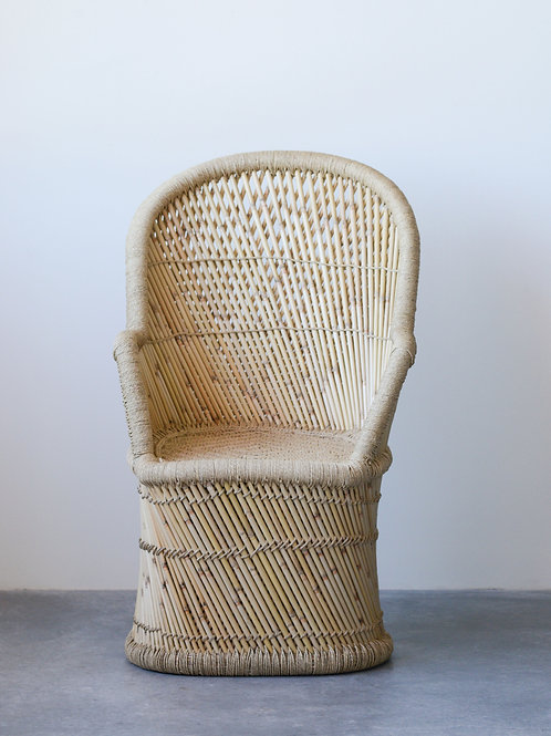 Handwoven Bamboo & Rope Chair