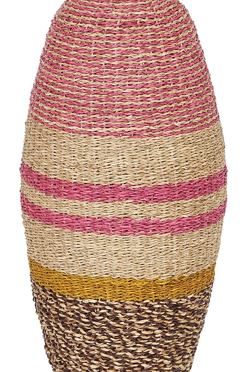 "25""H Handwoven Bamboo & Seagrass Vase"