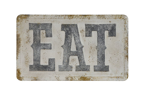 """EAT"" Metal Wall Decor"