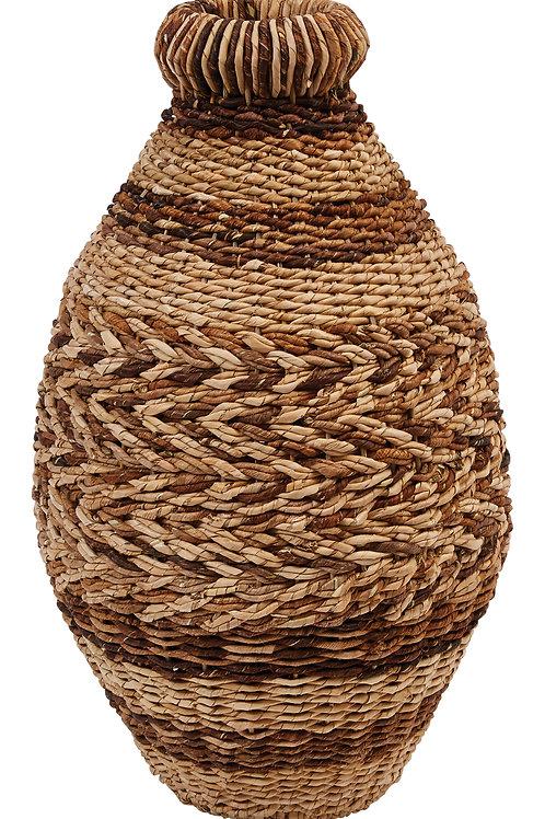 """21.5""""H Handwoven Abaca & Seagrass Floor Vase"""