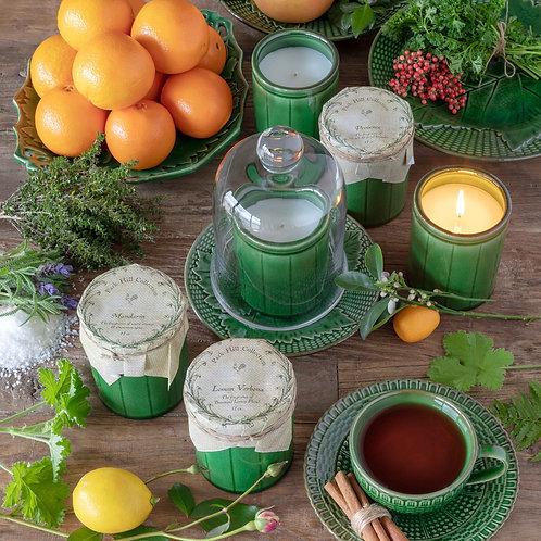 Lemon Verbena, Green Crockery Candle