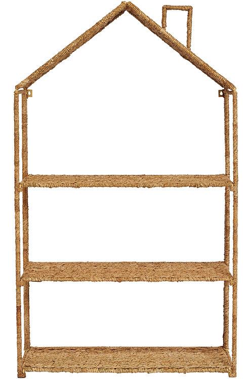 Foldable House-Shaped 3-Section Woven Bankuan Shelves