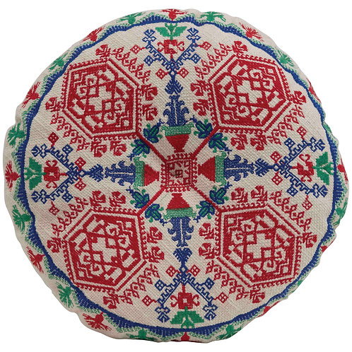 "3""H Cotton Embroidered Floor Cushion"