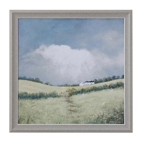 Framed Landscape Canvas Wall Decor