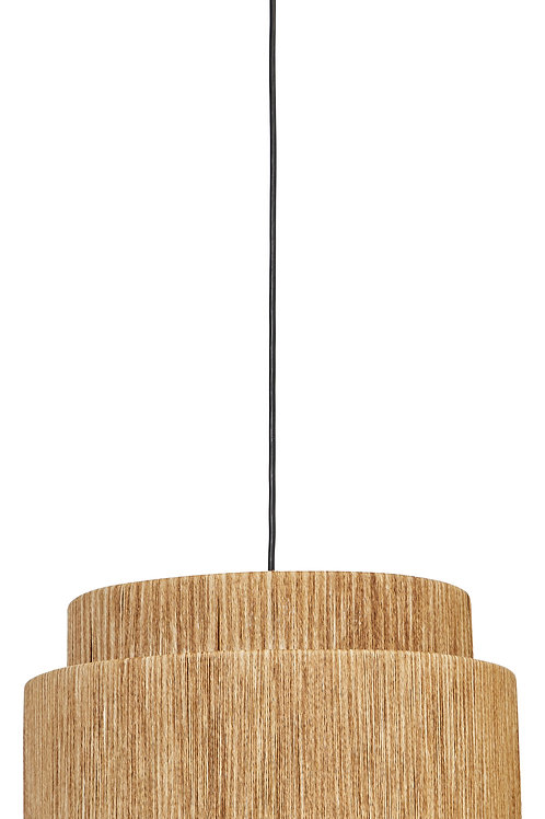 3-Tier Woven Paper String Pendant Light with 4' Cord (Hardwire Only)