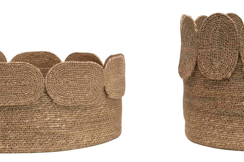 Handwoven Natural Seagrass Baskets (Set of 2 Sizes)
