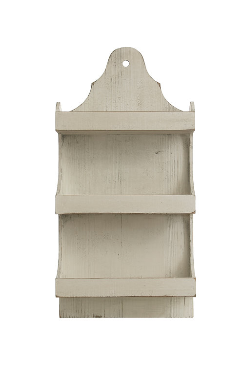 "31.75""H Heavily Distressed 3-Tier Wood Wall Shelf"