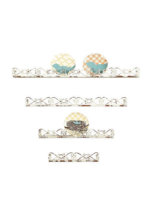 Decorative Cream Iron Ledges (Set of 4 Sizes)