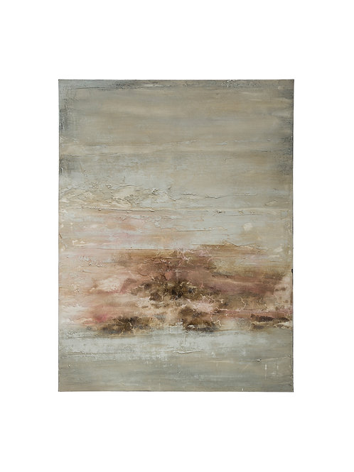 "47.25""H Hand-Painted Abstract Canvas Wall Decor"