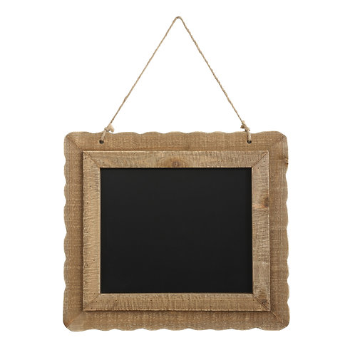 Hanging Blackboard with Decorative Wood Frame