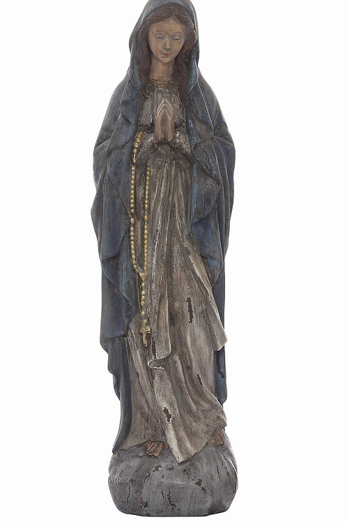 Antiqued Resin Virgin Mary Statue