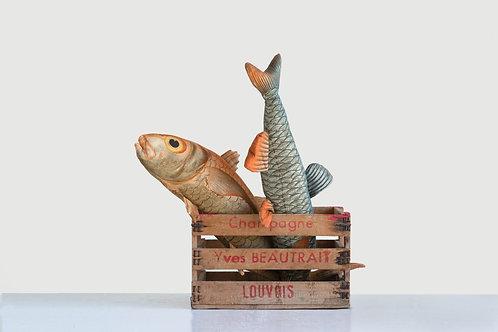 Vintage Cotton Fish Shaped Pillow (Set of 2 Designs)