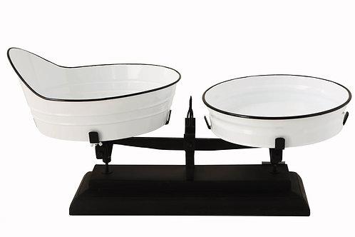 White & Black Decorative Metal Scale