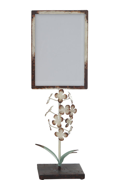 """Large Distressed Metal Photo Frame (Holds 5"""" x 7"""" Photo)"""