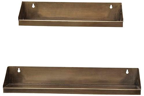 "15"" & 20"" Metal Rectangle Wall Shelves (Set of 2 Sizes)"