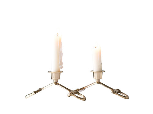 Brass Horse Bit Candleholder