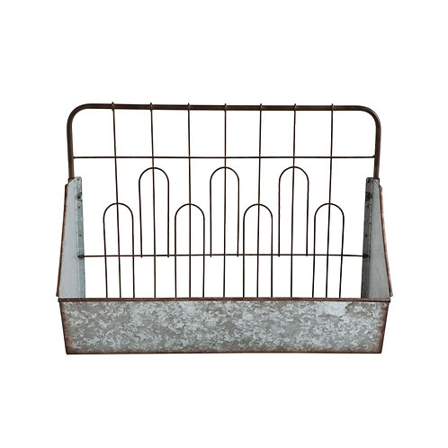 Wall Shelf with Fence Style Back