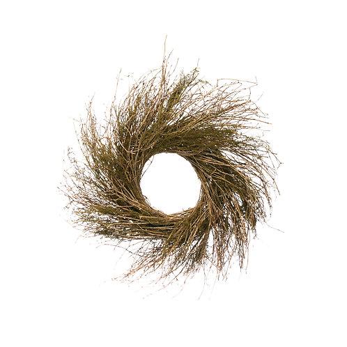 "23.5"" Round Dried Natural Twig Wreath"