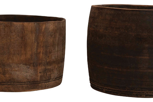 """8""""R Found Wood Container (Each one will vary)"""