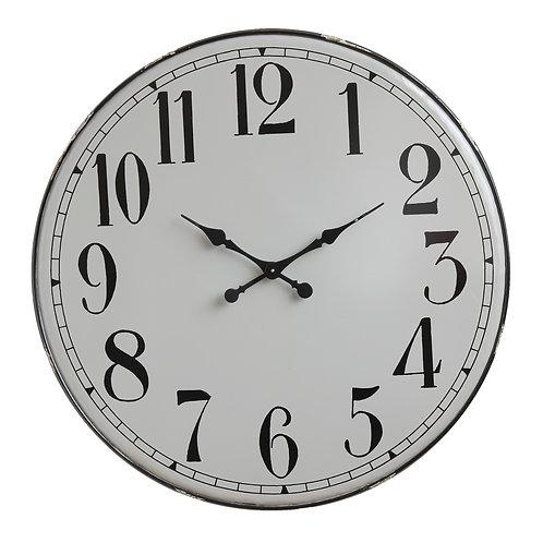 Grey & Black Metal Wall Clock
