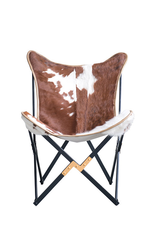 Cowhide Folding Butterfly Chair (Each one will vary)
