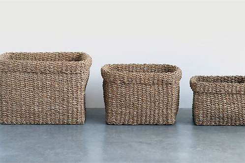 Natural Woven Seagrass Baskets