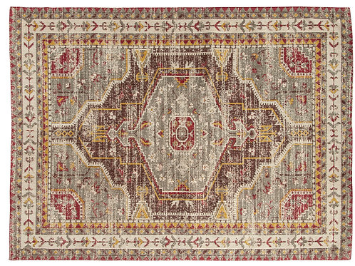 5' x 7' Multicolor Printed Cotton Rug