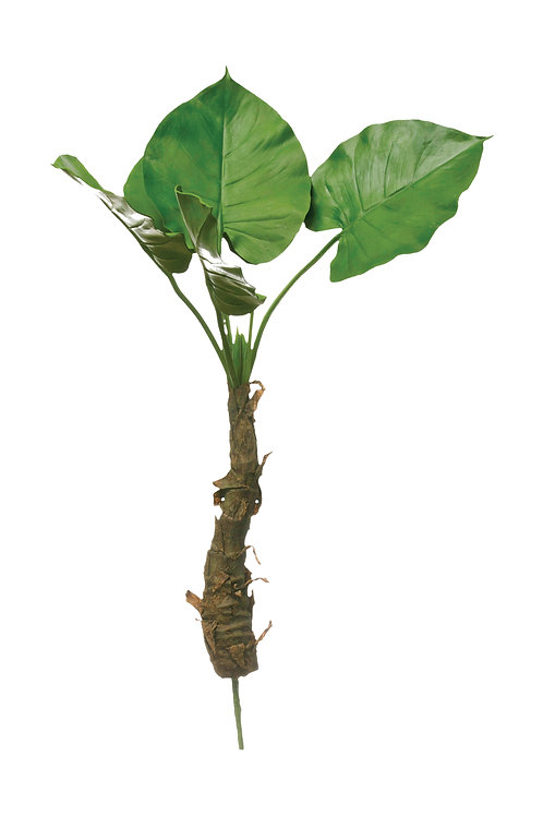 """26-1/2""""H Faux Philodendron Leaf Plant w/ Roots"""