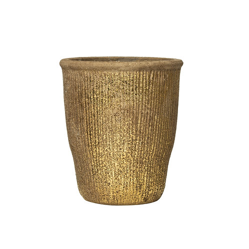 "Grooved Terracotta Planter (Holds 6"" Pot)"